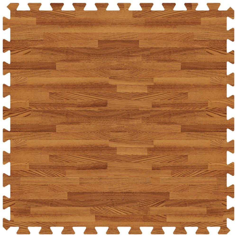 Groovy Mats Dark Oak 24 in. x 24 in. Comfortable Wood Grain Mat (100 sq.ft. / Case)