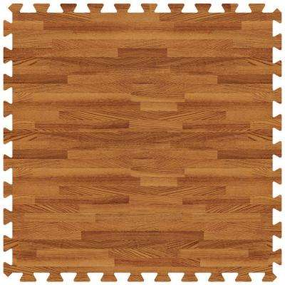Dark Oak 24 in. x 24 in. Comfortable Wood Grain Mat (100 sq.ft. / Case)