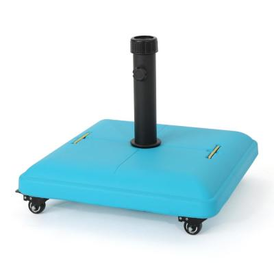 Guadalupe 80 lbs. Concrete Patio Umbrella Base in Teal