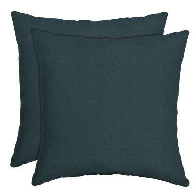 16 in. x 16 in. Atlantis Woven Outdoor Throw Pillow (2-Pack)
