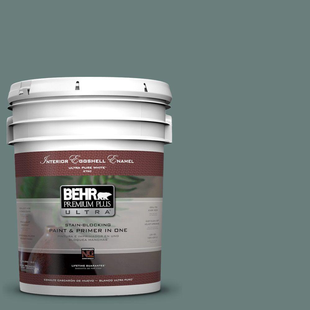 BEHR Premium Plus Ultra 5-gal. #N430-5 Aspen Valley Eggshell Enamel Interior Paint