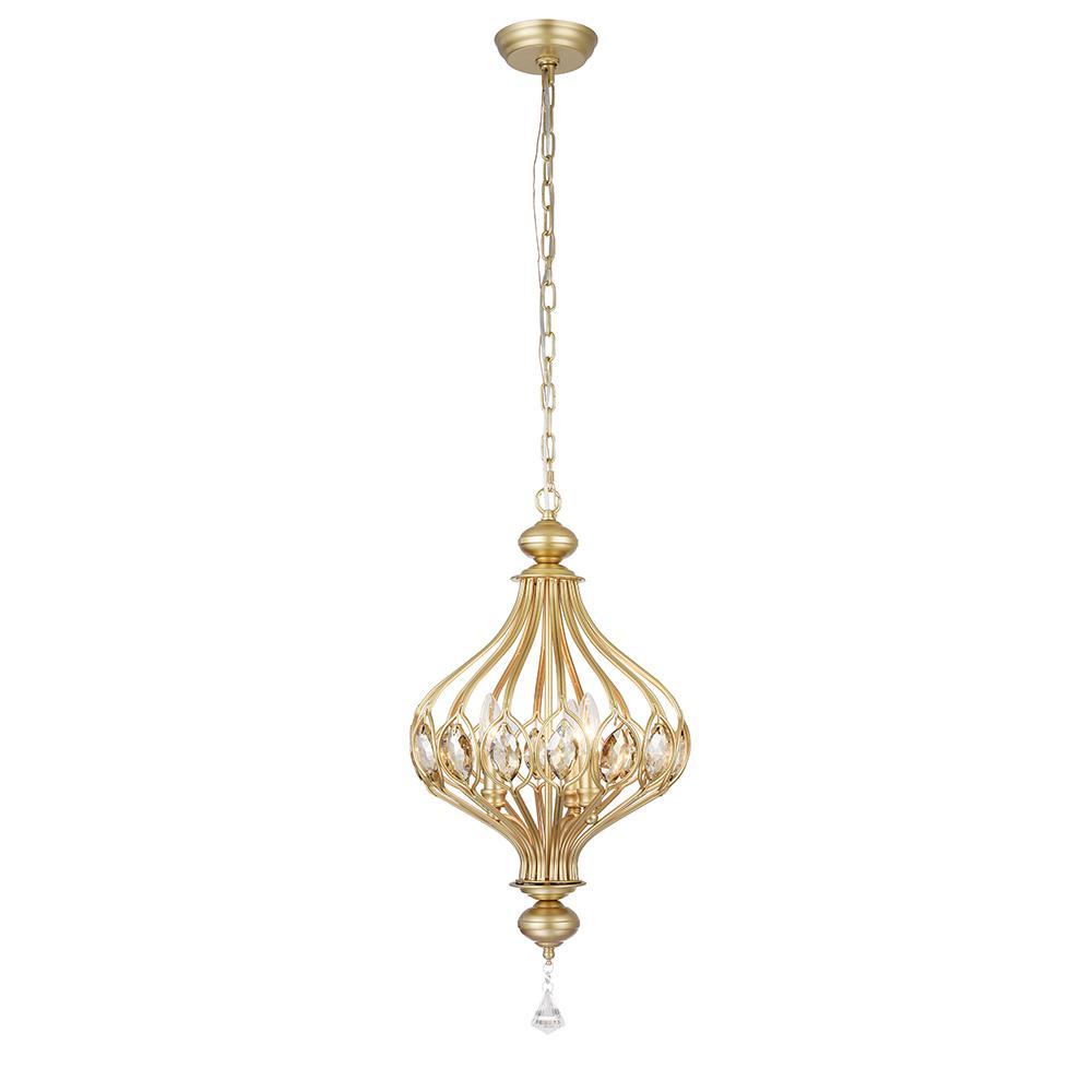 Holmdis 3-Light Gold Ornament Lamp Pendant