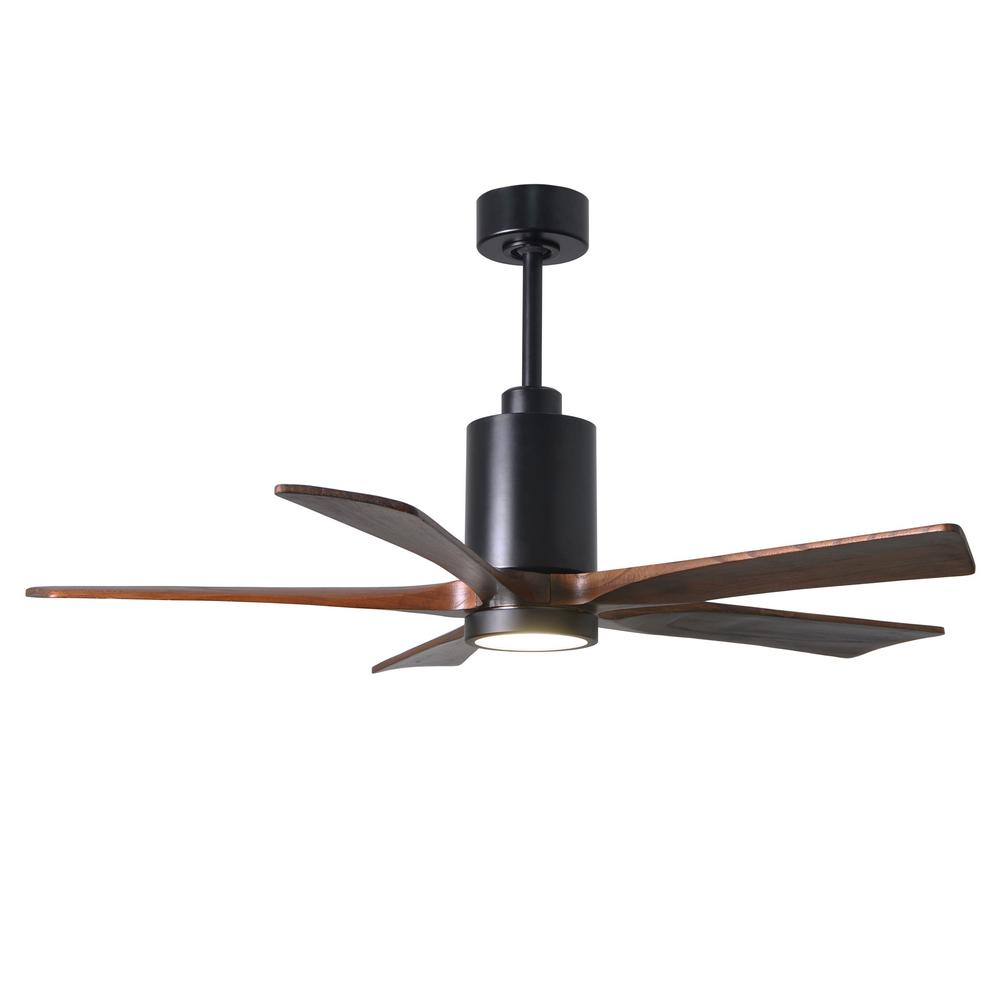 Patricia 52 in. LED Indoor/Outdoor Damp Matte Black Ceiling Fan with
