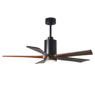 Patricia 52 in. LED Indoor/Outdoor Damp Matte Black Ceiling Fan with Light with Remote Control and Wall Control