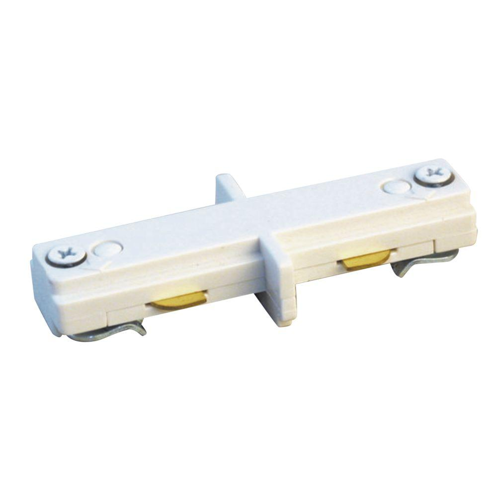 Halo Lazer Track Lighting White Mini Connector-LZR212P
