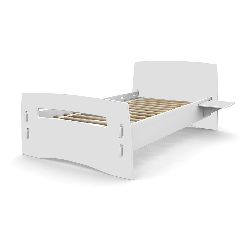 Kid's Twin Bed with Traditional Design Headboard and Foot board in