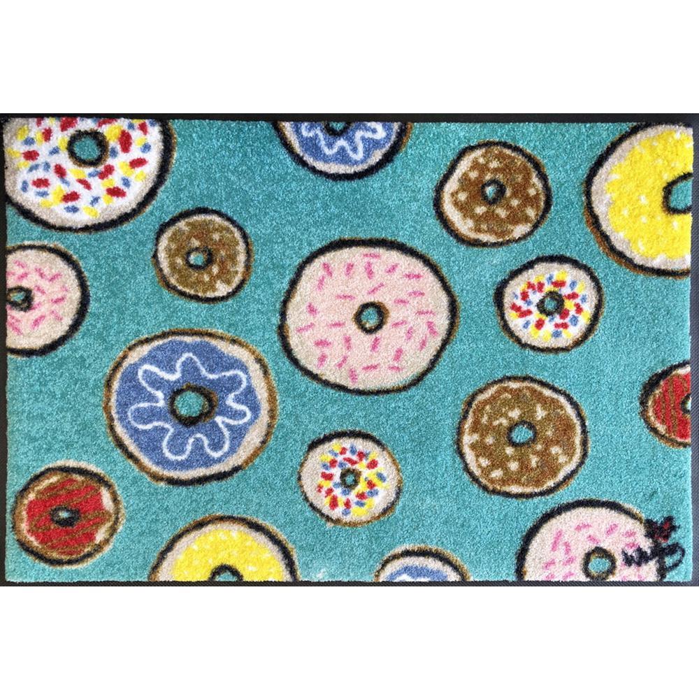 Whimsy Donuts 20 in. x 30 in. Nylon Doormat