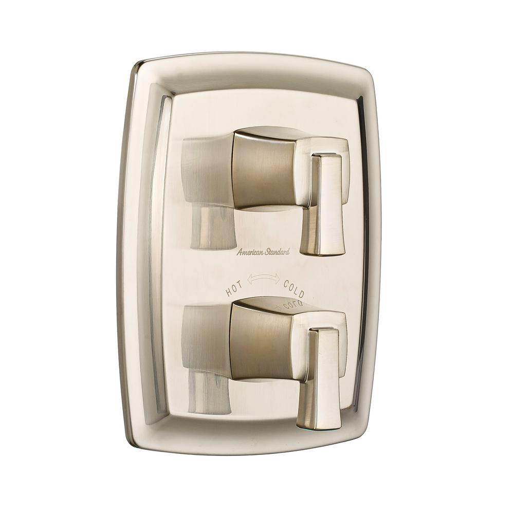 AmericanStandard American Standard Townsend 2-Handle Thermostatic Valve Trim Kit in Brushed Nickel (Valve Sold Separately)