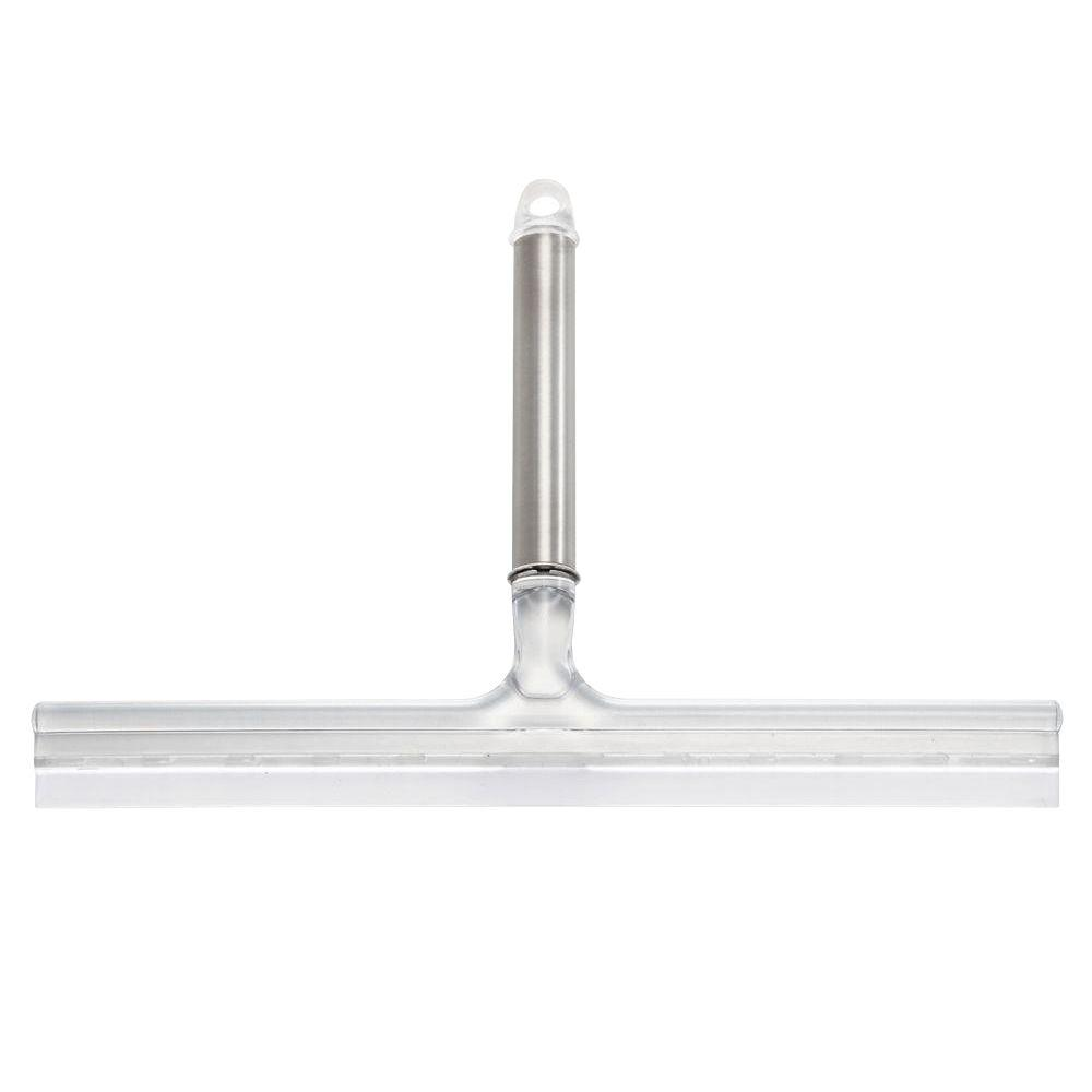 Forma 12 in. Ultra Squeegee in Brushed Stainless Steel/Clear