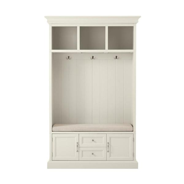 Royce Polar White 49 in. Hall Tree