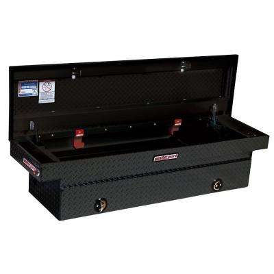 Full-Size Aluminum Extra Wide Saddle Box in Black