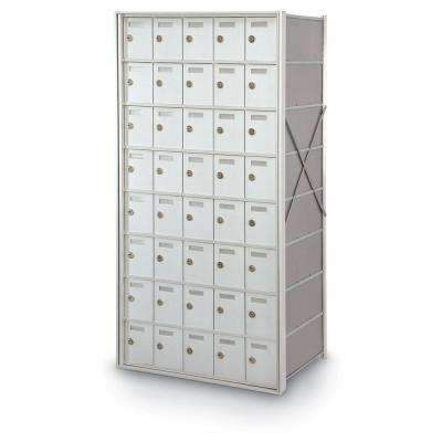 40-Door Rear-Loading Private Horizontal Mailbox