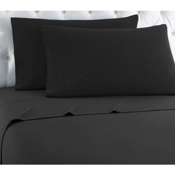 Micro Flannel Twin XL 3-Piece Charcoal solid Sheet set MFNSSTXCHL