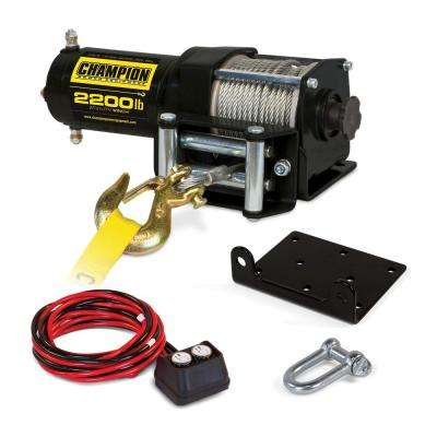 2,200 lbs. 12-Volt ATV/UTV Winch Kit