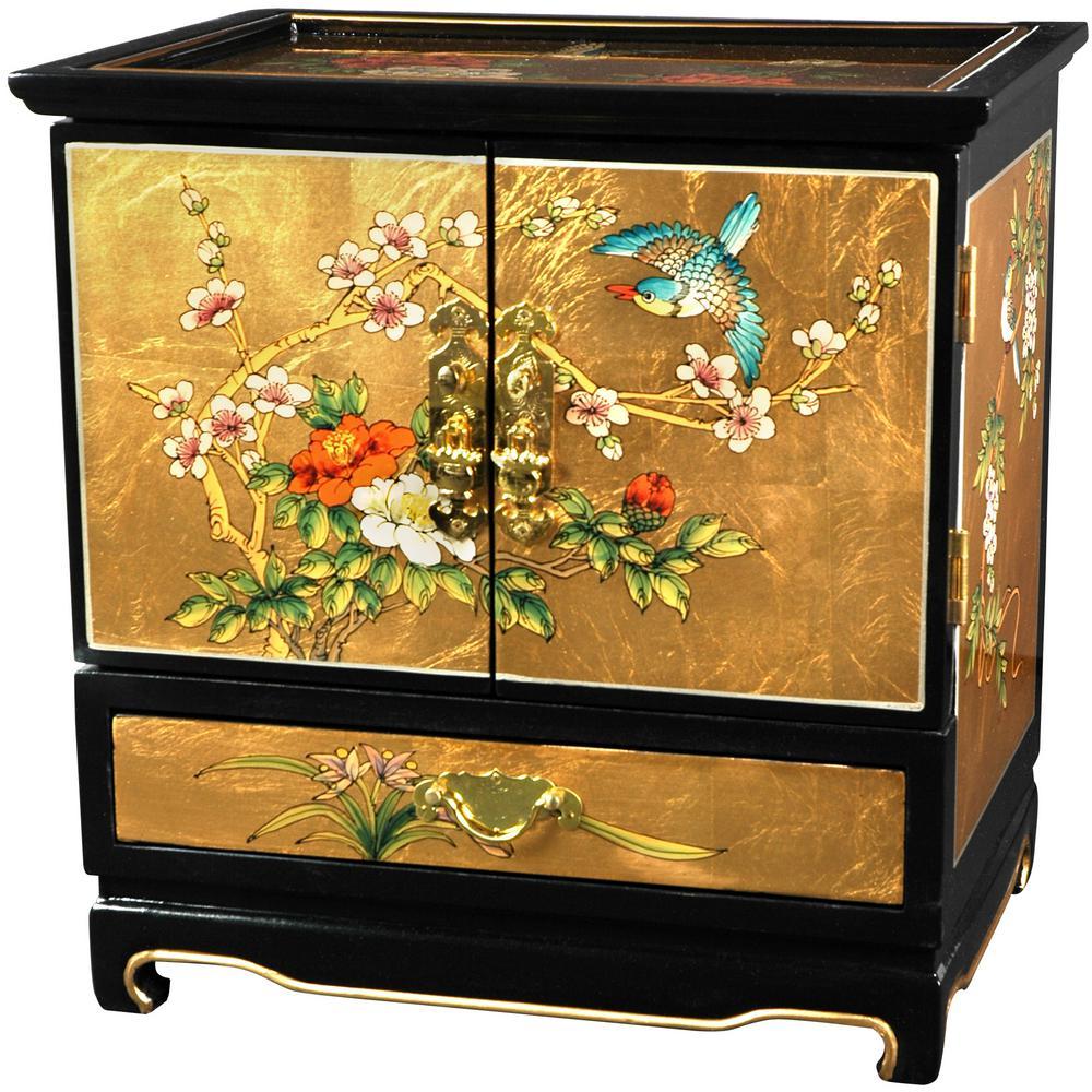 Oriental Furniture Gold Empress Crackle Jewel Box