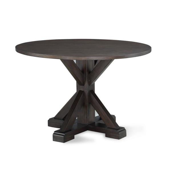 Dorel Living Hester Rustic Brown Round Dining Table
