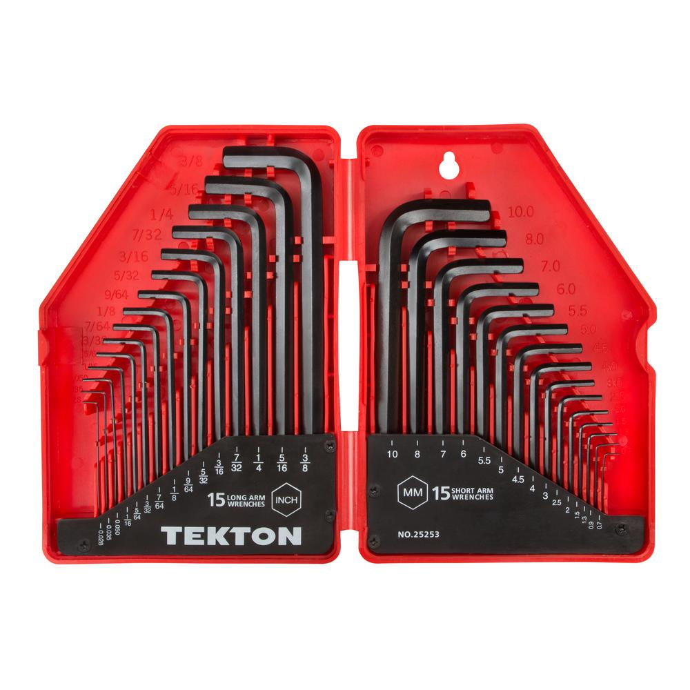 7 10 Mm Hex Key Wrench Set 30 Piece