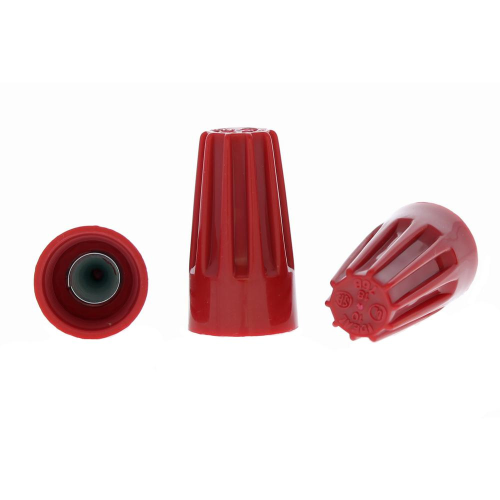 Ideal 76B Red WIRE-NUT Wire Connectors (100 per Bag, Standard ...