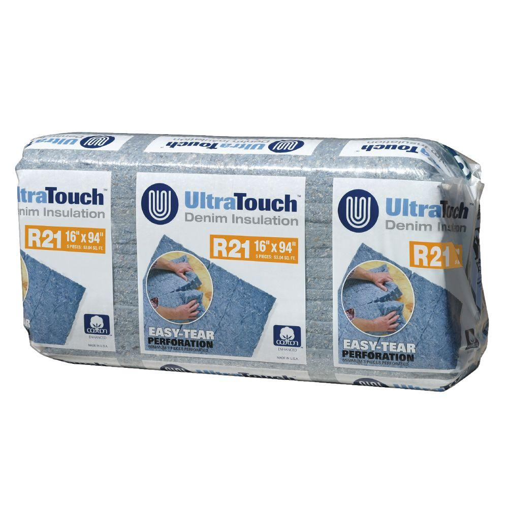 UltraTouch 16.25 in. x 94 in. R21 Denim Insulation (12-Bags)