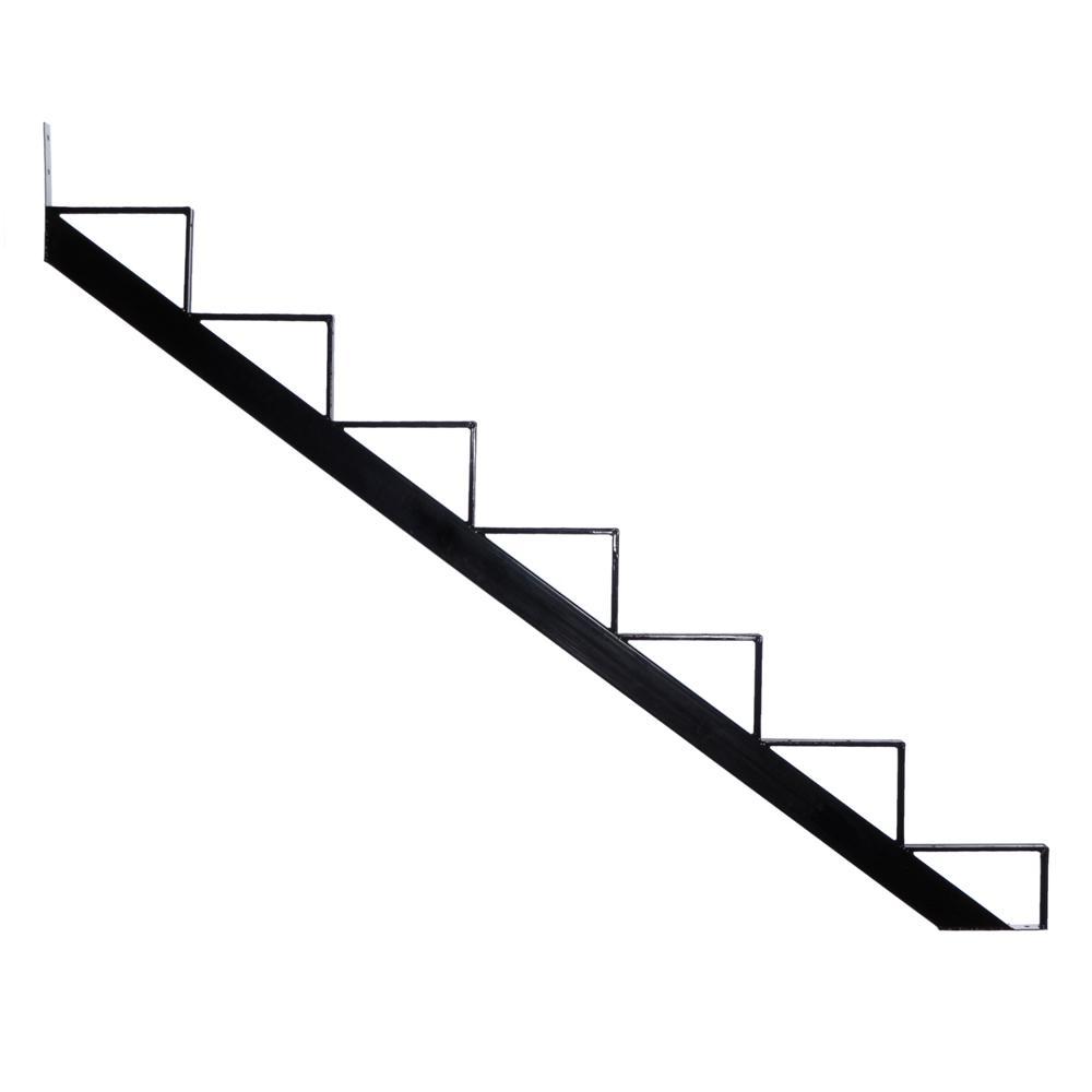 Pylex 7-Steps Steel Stair Stringer black 7-1/2 in  x 10-1/4 in  (Includes 1  Stair Riser)