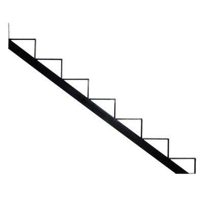 7-Steps Steel Stair Stringer black 7-1/2 in. x 10-1/4 in. (Includes 1 Stair Riser)