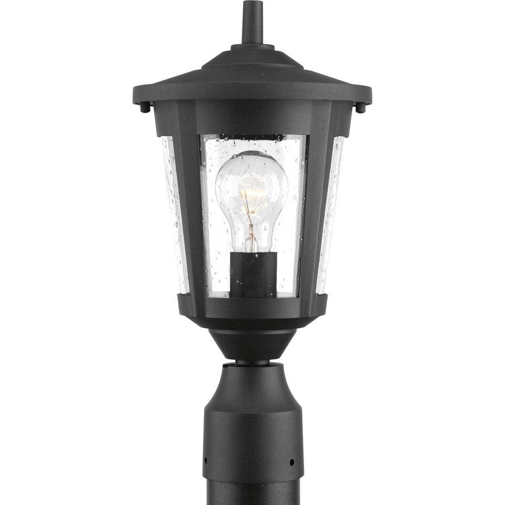 Bel air lighting post lighting outdoor lighting the home depot east haven collection 1 light black outdoor post lantern aloadofball Images