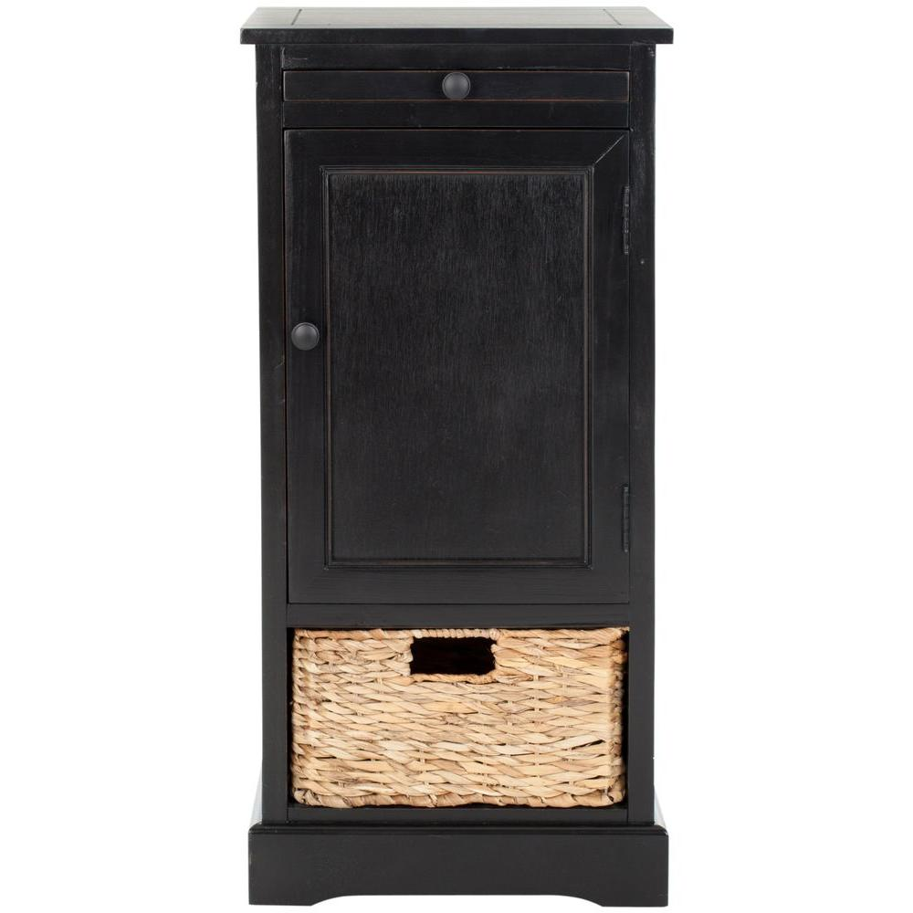 Safavieh Raven Distressed Black Storage End Table  sc 1 st  Home Depot & Safavieh Raven Distressed Black Storage End Table-AMH5703B - The ...