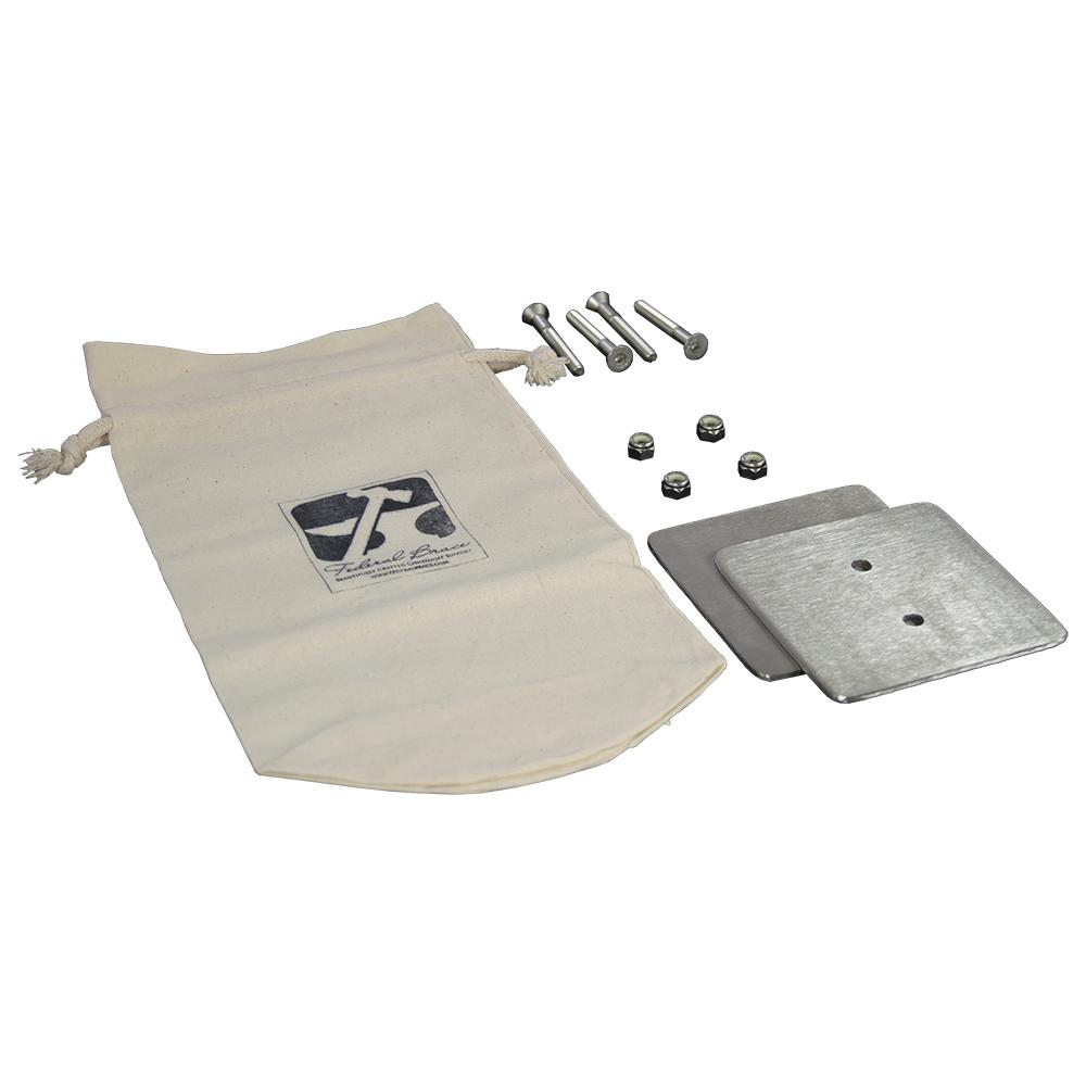 2-Hole Counter Mount Galvanized Steel Bearing Plate Kit (2-Pack)