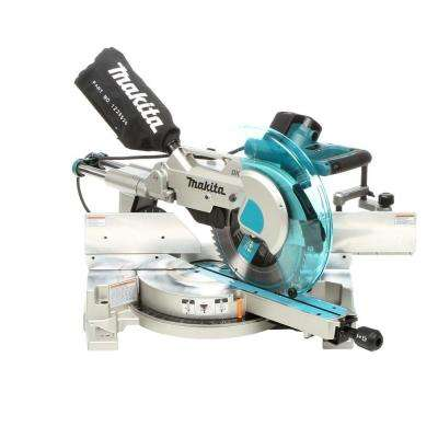 15 Amp 12 in. Corded Double Bevel Sliding Compound Miter Saw with Built In Laser, 60T Blade, Dust Bag