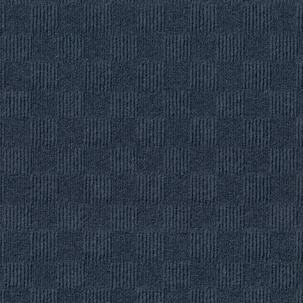 Foss Premium Self-Stick First Impressions City Block Ocean Blue Texture 24 in. x 24 in. Carpet Tile (15 Tiles/Case)
