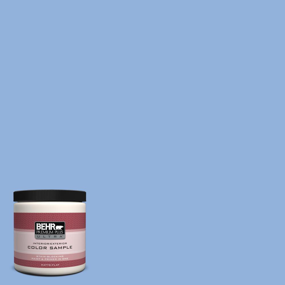BEHR Premium Plus Ultra 8 oz. #PPU15-12 Bluebird Interior/Exterior Paint Sample