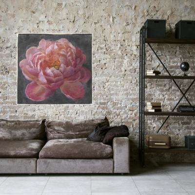 35 in x 35 in 'Vivid Floral I' by Danhui Nai Fine Art Wrapped Canvas Print Wall Art