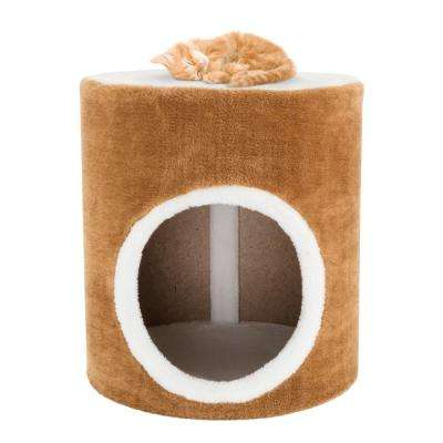 Brown and White Sing Hole Cat Condo