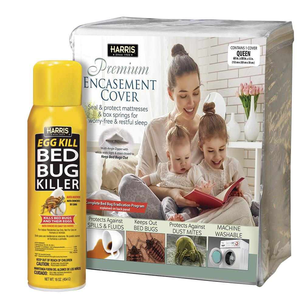 queen bed bug Harris Queen Bed Bug Mattress Cover and Bed Bug Spray   Value Pack  queen bed bug