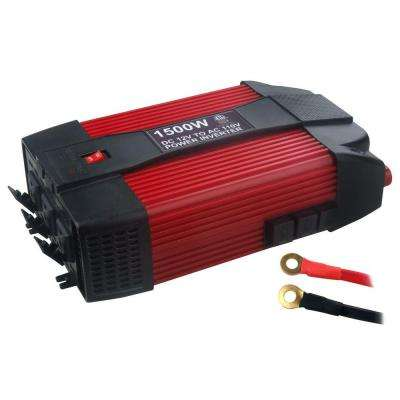 12-Volt DC to AC 1,500-Watt Power Inverter