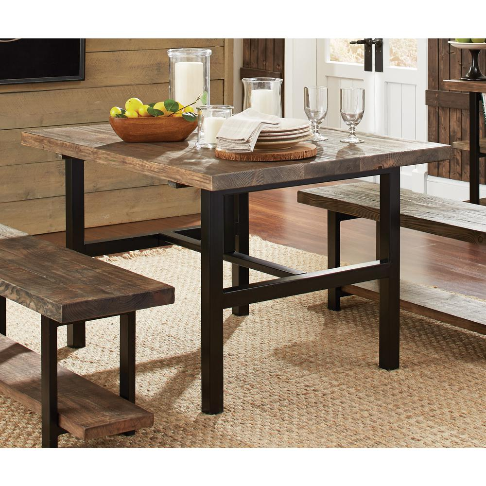 Alaterre Furniture Pomona Rustic Natural Dining TableAMBA The - Distressed wood dining table with bench