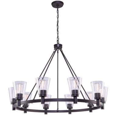 10-Light Oil Rubbed Bronze Chandelier