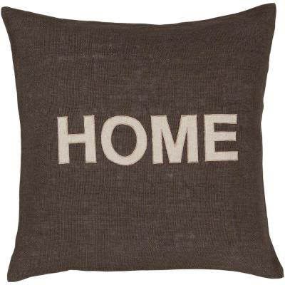 Abode Brown Geometric Polyester 18 in. x 18 in. Throw Pillow
