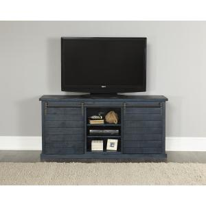 Huntington 64 in. Distressed Navy Entertainment Console