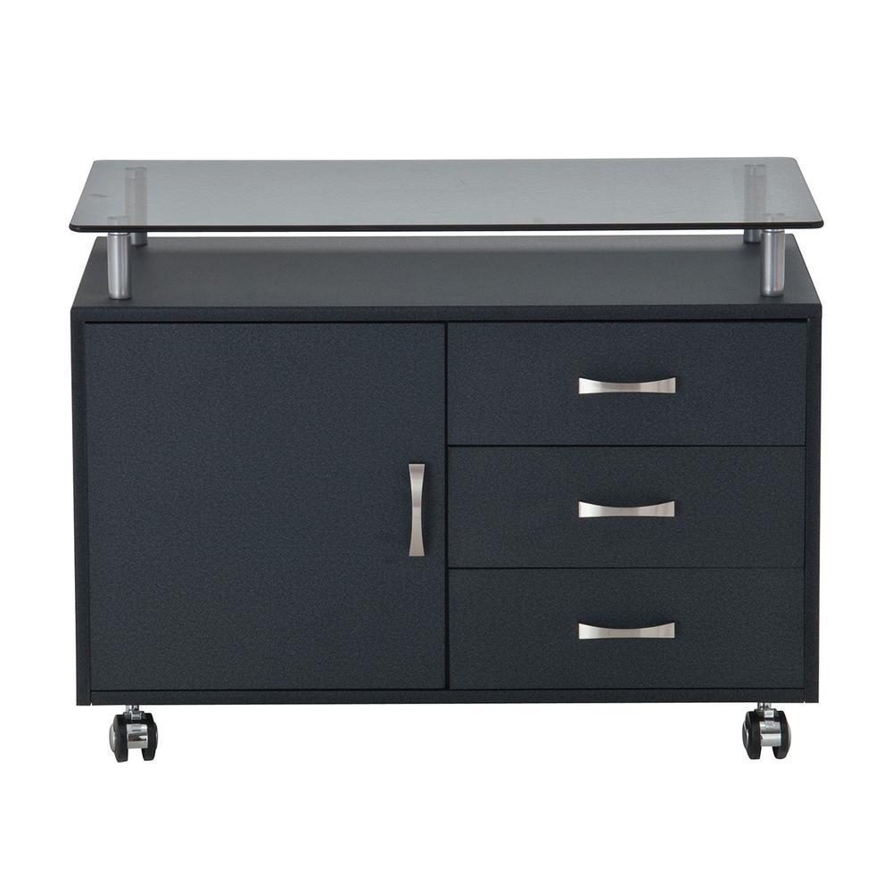 Techni Mobili Graphite (Grey) Rolling Storage Cabinet wit...