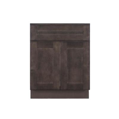 Lancaster Shaker Assembled 30 in. W x 21 in. D x 33 in. H Bath Vanity Cabinet with 2 Doors in Vintage Charcoal