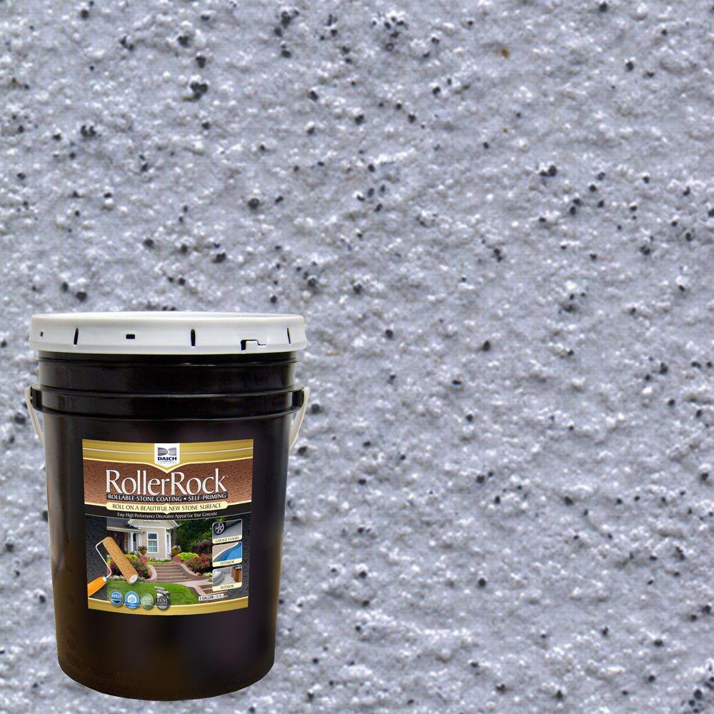 DAICH RollerRock 5 Gal. Self-Priming Deep Slate Exterior Concrete Coating