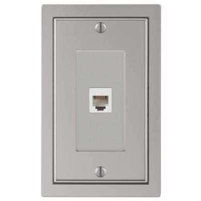 Averly 1 Gang Phone Metal Wall Plate - Satin Nickel