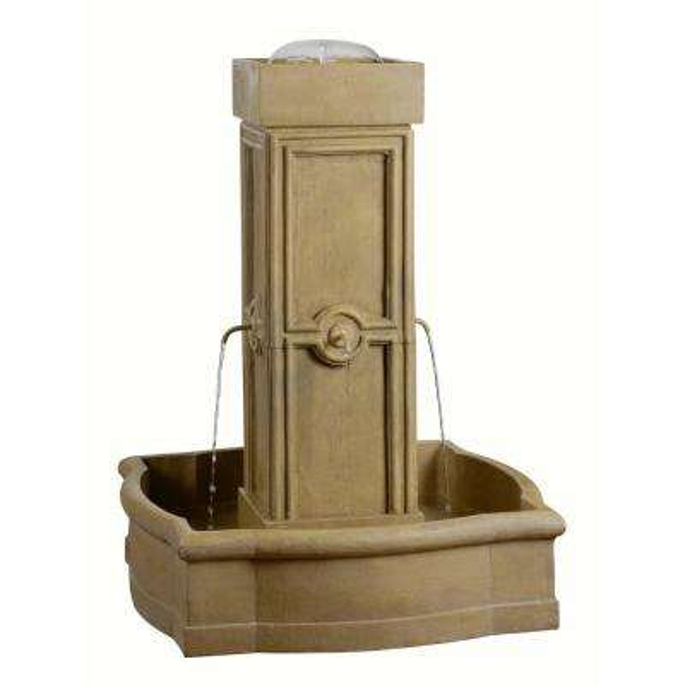 Quatrafoil Resin Outdoor Floor Fountain