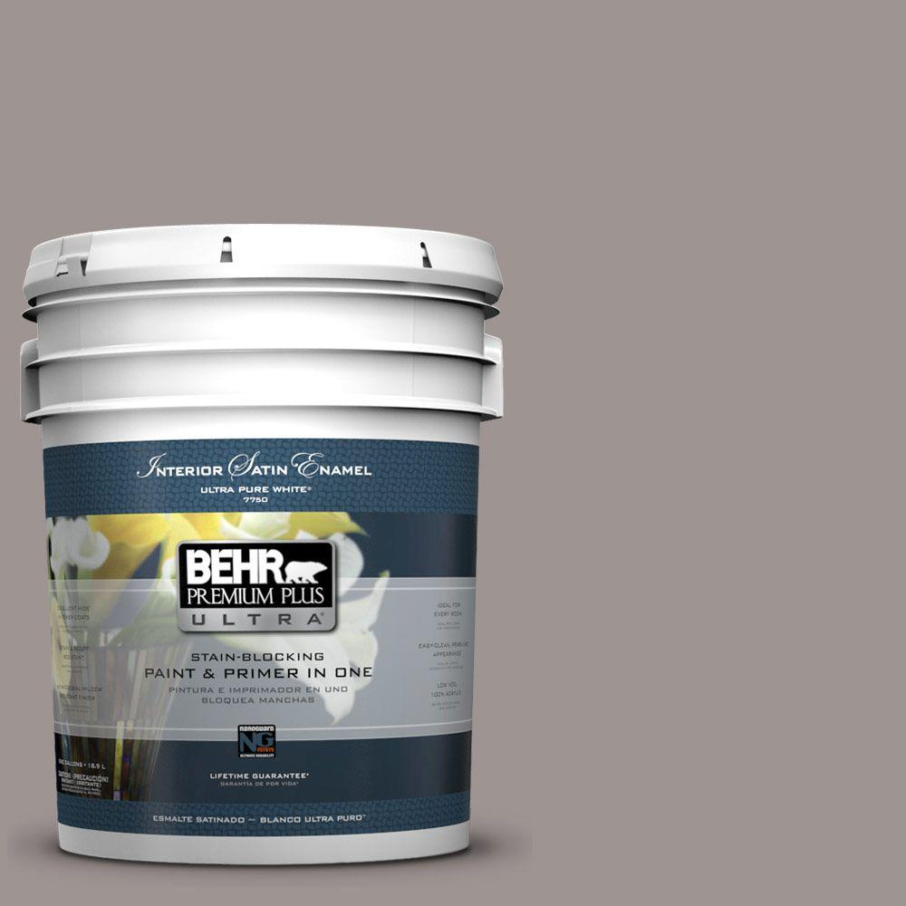 BEHR Premium Plus Ultra 5-gal. #790B-4 Puddle Satin Enamel Interior Paint