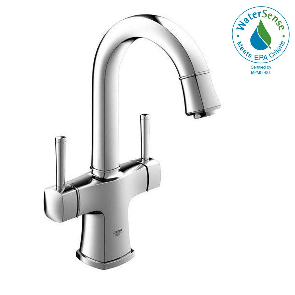 Grohe Grandera Single Hole 2 Handle Bathroom Faucet In Starlight Chrome