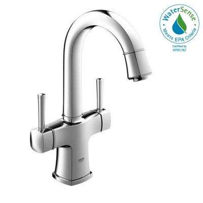 Grandera Single Hole 2-Handle Bathroom Faucet in Starlight Chrome