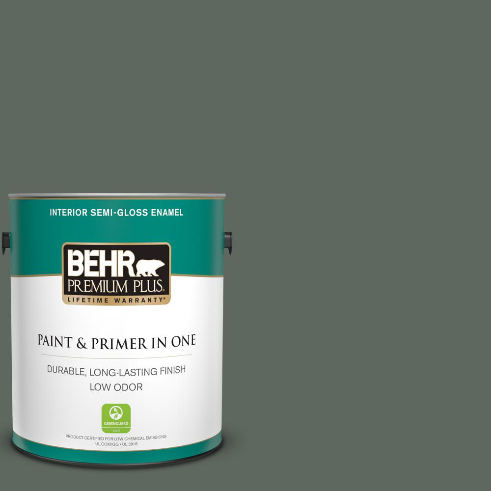 BEHR Premium Plus 1 Gal. #N410-6 Pinecone Hill Semi-Gloss