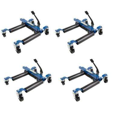 1500 lb. 9 in. Hydraulic Car Wheel Dolly (4-Pack)
