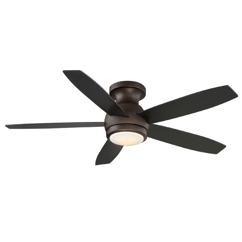 Ge treviso 52 in brushed nickel indoor led ceiling fan with remote brushed nickel indoor led ceiling fan with remote control 20314 the home depot aloadofball Image collections